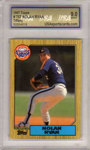 1987 Topps Tiffany #757 Nolan Ryan