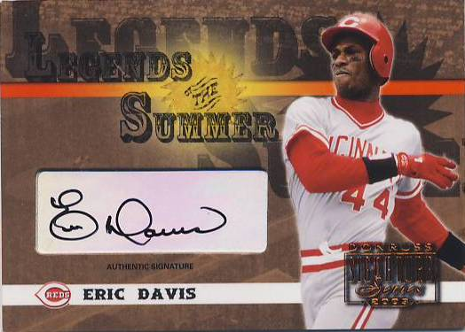 2003 Donruss Signature Legends of Summer Autographs #14 Eric Davis