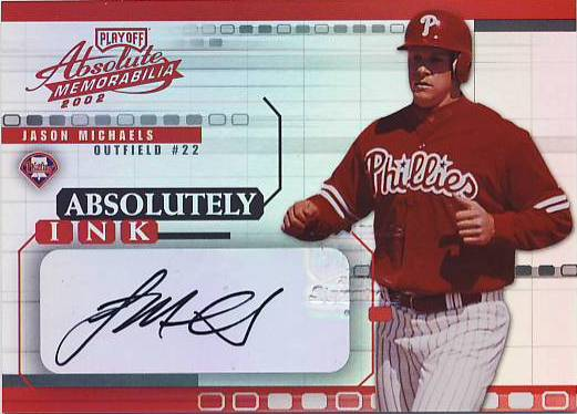2002 Absolute Memorabilia Absolutely Ink #25 Jason Michaels