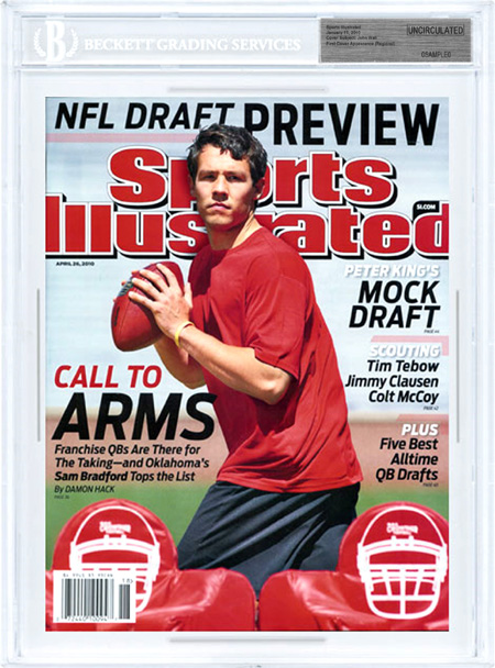 SPORTS ILLUSTRATED BGS SI Uncirculated SAM BRADFORD  front image