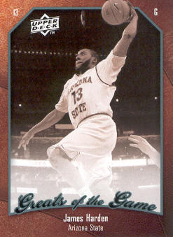 2009-10 Greats of the Game #36 James Harden RC front image