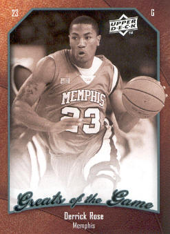 2009-10 Greats of the Game #73 Derrick Rose front image