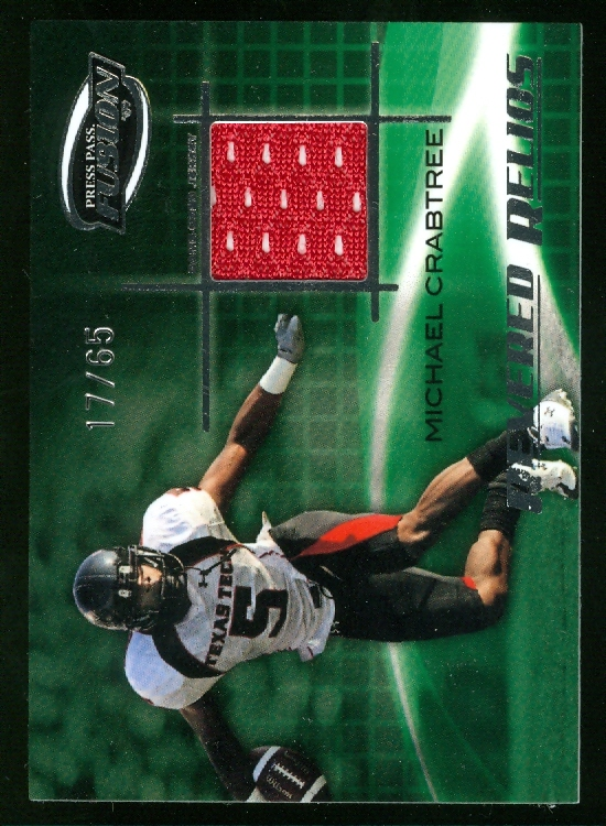 2009 Press Pass Fusion Revered Relics Silver #RRMC Michael Crabtree/65