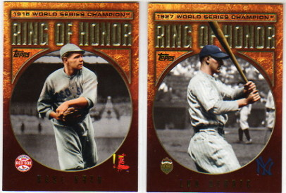 2009 Topps Ring Of Honor #RH96 Lou Gehrig