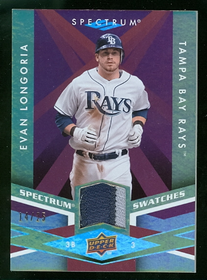 2009 Upper Deck Spectrum Spectrum Swatches Patch #SSLO Evan Longoria