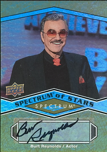 2009 Upper Deck Spectrum Spectrum of Stars Autographs #BU Burt Reynolds