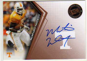 2010 Press Pass Autographs Bronze #PPSMH Montario Hardesty