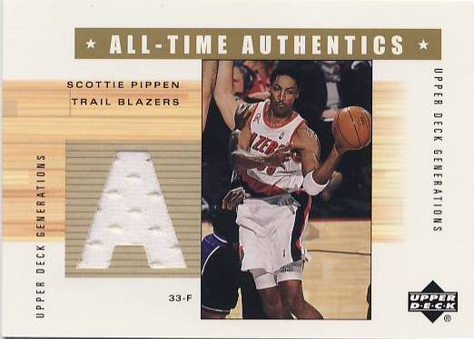 2002-03 Upper Deck Generations All-Time Authentics #SPA Scottie Pippen