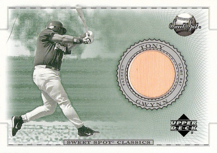 2002 Sweet Spot Classics Game Bat #BTG Tony Gwynn DP