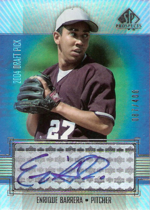 2004 SP Prospects #411 Enrique Barrera AU/400 RC