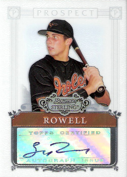 2006 Bowman Sterling Prospects #BR Billy Rowell AU A EXCH