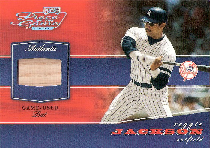 2002 Playoff Piece of the Game Materials #70A Reggie Jackson Bat