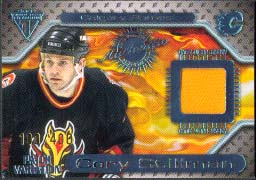 2000-01 Pacific Private Stock Titanium Game Gear Jersey #71, Cory Stillman