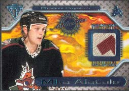 2000-01 Pacific Private Stock Titanium Game Gear Jersey #123, Mike Alatalo
