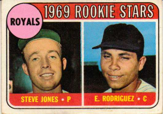 1969 Topps #49B Rookie Stars/Steve Jones RC/Ellie Rodriguez RC COR