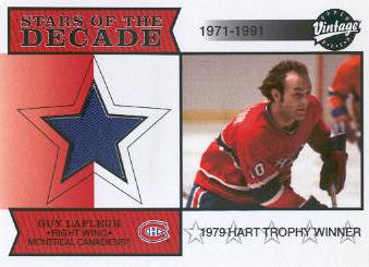 2001-02 Upper Deck Vintage Jerseys #SDGL Guy Lafleur