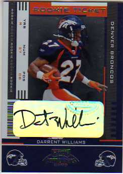 2005 Playoff Contenders #184 Darrent Williams AU RC