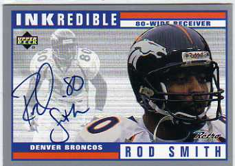 1999 Upper Deck Retro Inkredible #RS Rod Smith
