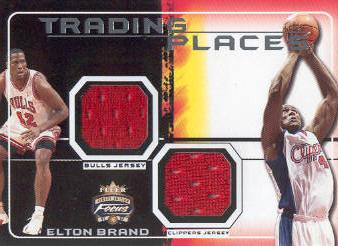 2001-02 Fleer Focus Trading Places Jerseys #7 Elton Brand