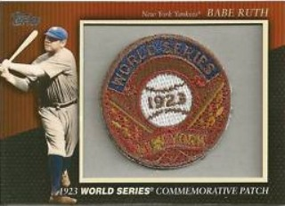 2010 Topps Commemorative Patch #MCP2 Babe Ruth