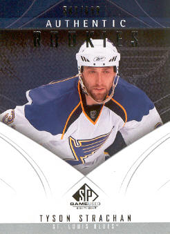 2009-10 SP Game Used #105 Tyson Strachan RC