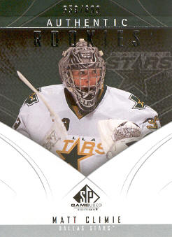 2009-10 SP Game Used #138 Matt Climie RC