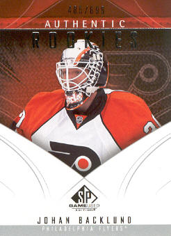 2009-10 SP Game Used #148 Johan Backlund RC
