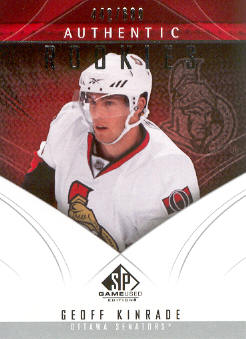 2009-10 SP Game Used #162 Geoff Kinrade RC