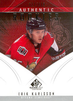 2009-10 SP Game Used #165 Erik Karlsson RC