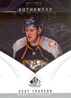 2009-10 SP Game Used #174 Cody Franson RC