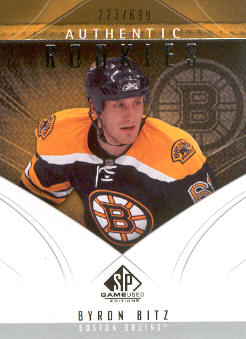 2009-10 SP Game Used #178 Byron Bitz RC