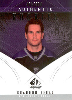 2009-10 SP Game Used #181 Brandon Segal RC