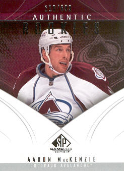 2009-10 SP Game Used #189 Aaron MacKenzie RC