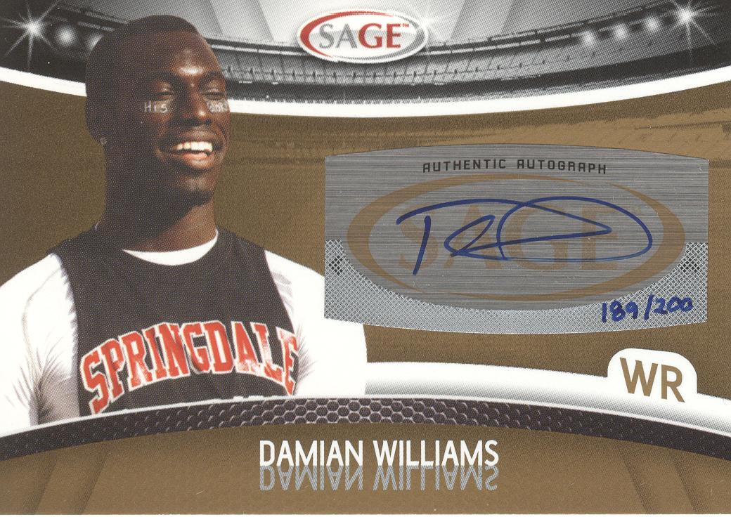 2010 SAGE Autographs Gold #53 Damian Williams