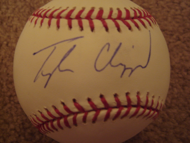 Tyler Clippard Autographed Official MLB Baseball With Steiner COA