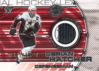 2000-01 Vanguard Dual Game-Worn Jerseys #4 Derian Hatcher/Mike Modano/1500