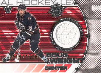 2000-01 Vanguard Dual Game-Worn Jerseys #7 Doug Weight/Ryan Smyth/1500