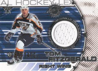 2000-01 Vanguard Dual Game-Worn Jerseys #12 Tom Fitzgerald/Kimmo Timonen/1400
