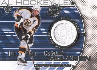 2000-01 Vanguard Dual Game-Worn Jerseys #14 Kyle McLaren/Don Sweeney/1400