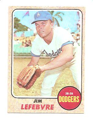1968 Topps #457 Jim Lefebvre