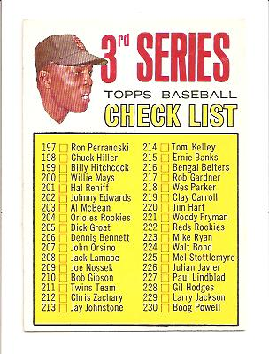 1967 Topps #191A Willie Mays CL3 214 is Tom Kelley