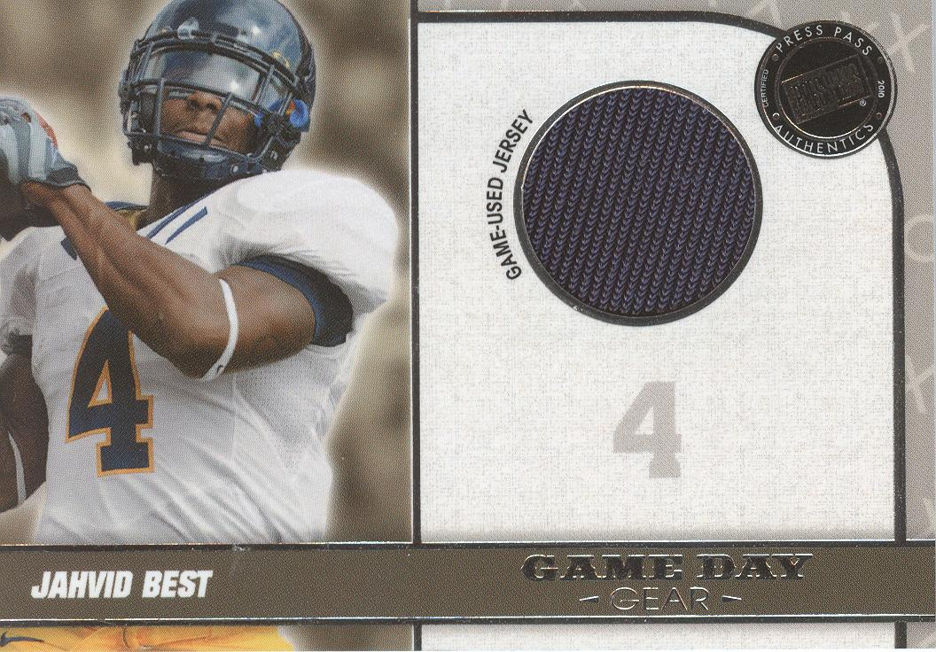 2010 Press Pass PE Game Day Gear Jerseys Silver #GDGJB Jahvid Best