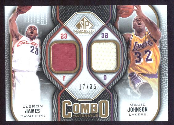 2009-10 SP Game Used Combo Materials 35 #CMLM Magic Johnson/LeBron James