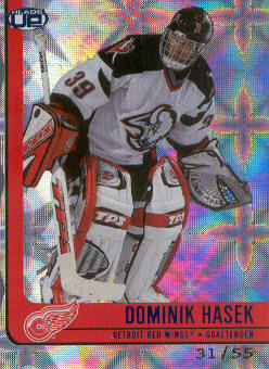 2001-02 Pacific Heads Up Blue #35 Dominik Hasek