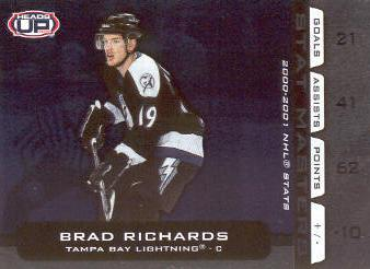 2001-02 Pacific Heads Up Stat Masters #18 Brad Richards