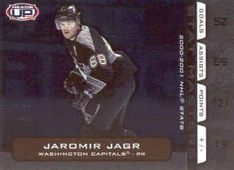 2001-02 Pacific Heads Up Stat Masters #20 Jaromir Jagr