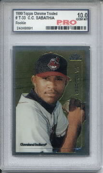 1999 Topps Chrome Traded #T33 C.C. Sabathia RC Graded Gem Mint 10