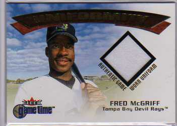 2001 Fleer Game Time Uniformity #12 Fred McGriff