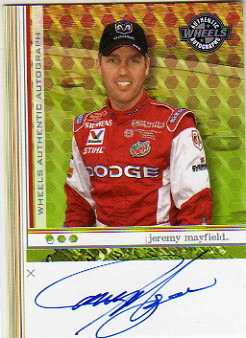 2003 Wheels Autographs #37 Jeremy Mayfield AT/HG