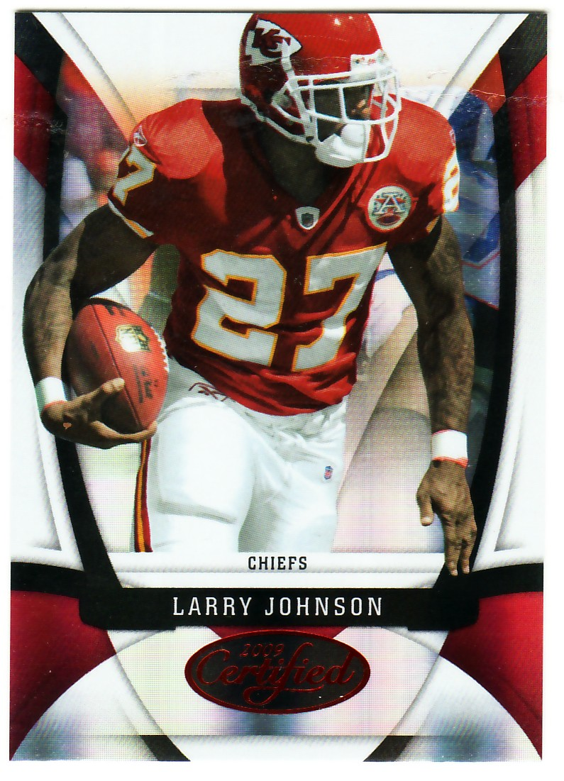 2009 Certified Mirror Red #62 Larry Johnson
